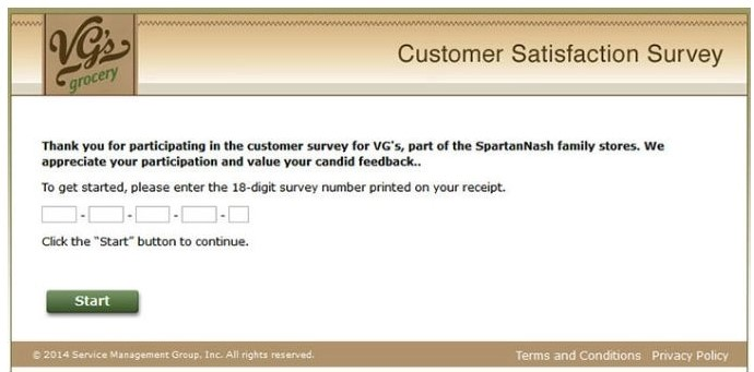 VG's Customer Feedback Survey