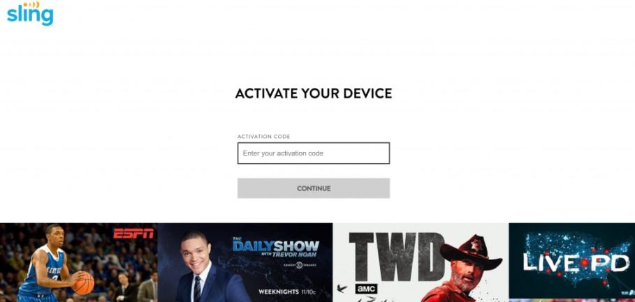 Sling TV activation code