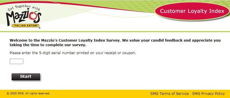 Mazzio's Customer Feedback Survey