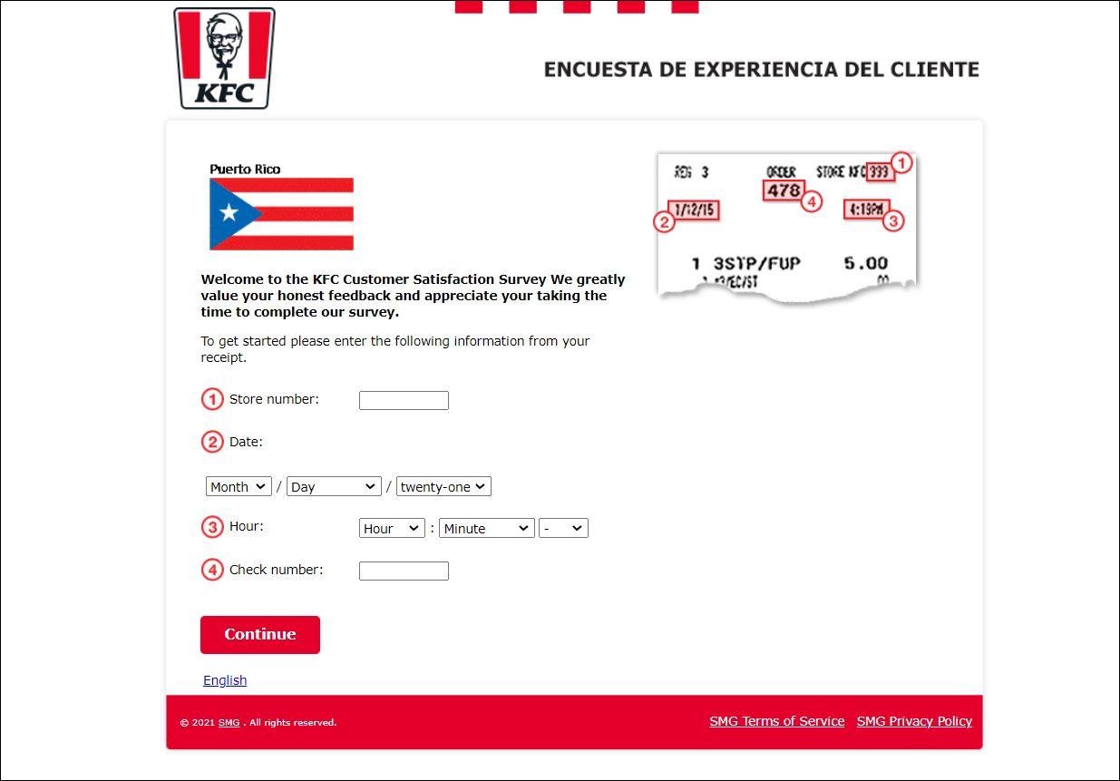 KFC Puerto Rico Survey