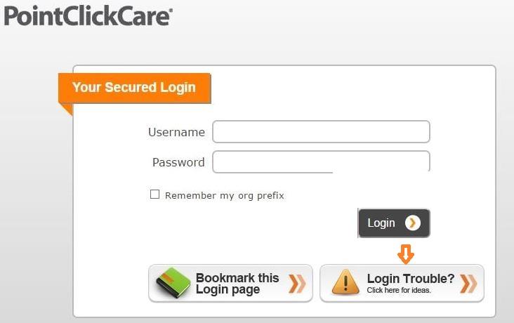 PointClickCare Login forgot password